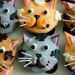 Gateau forme de chat