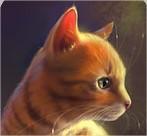chat en peinture
