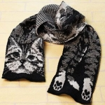 2/ Une écharpe « Happy Kitty Scarf