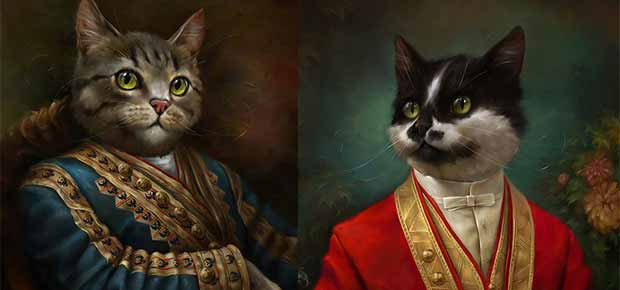 peinture de chat