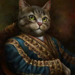 tableau chat portrait